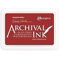 Ranger Archival Geranio–Tinta, color rojo