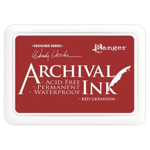 Ranger Géranium d'encre d'archives, rouge