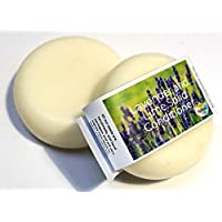Plastic Free Conditioner Bar - Lavender and Lime - Zero waste Hair Care Handmade In Devon, Uk (1 bar), Suitable for all hair types