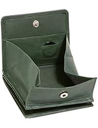 Modèle VIENNE portemonnaie particulier en cuir de vachette, fabrication façon « viennoise », avec compartiment pour la monnaie carré typique LEAS, vert - ''LEAS Special Edition''