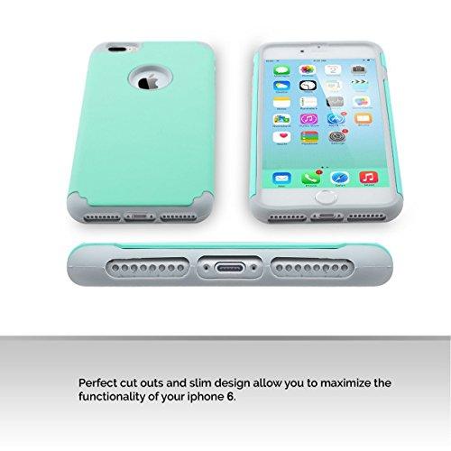 iPhone 7 Hülle, Pasonomi [Outdoor] [Dual Layer] Bumper Case Tasche Schutzhülle für iPhone 7 (Rose Gold) Mint