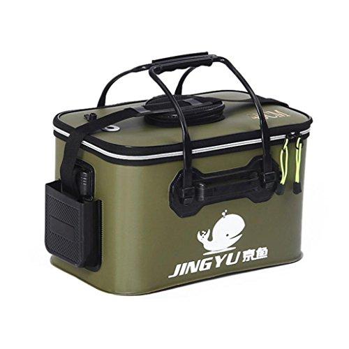 Livecity® Tragbare Faltbare klappbar mit Eimer, Outdoor-, Camping-Werkzeug, MWSUKSU778, armee-grün, 45 -