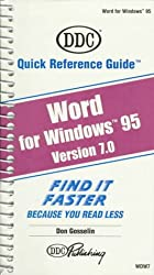 Word 7 for Windows 95 (Quick Reference Guides (DDC))