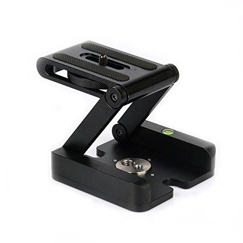 Harwerrel Aluminium Legierung Stativköpfe Neigekopf Z Flex Tilt Head Desktop-Ständer Halter für DSLR Kamera Camcorder Stativ
