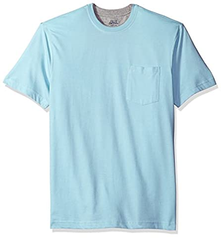 IZOD Men's Doubler Crew Neck Solid Short Sleeve Tee, Porcelain Blue, X-Large