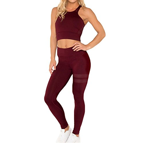Backless Sleeveless Fitness Sport Anzug Crop Sport Tops Yoga Leggings Jogging Trainingsanzug Böden Kausalen Sportbekleidung Outfits 2 Teile/Satz für Damen -