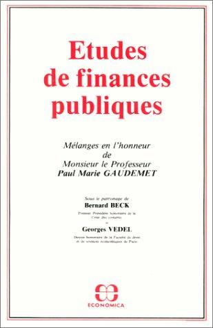 Etudes de finances publiques par Paul Marie Gaudemet