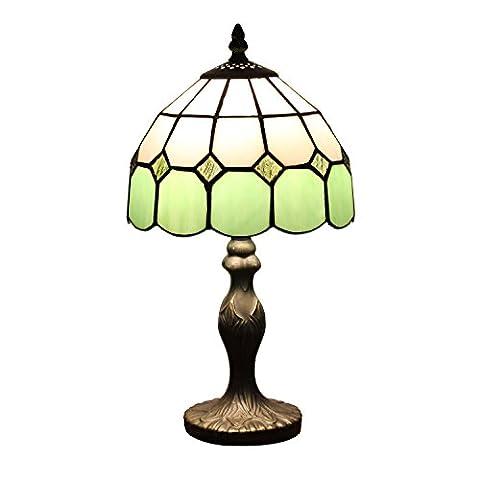 8-Inch Mediterranean Amber Table lamp Bedside bedroom lamp(4 colors for choose) ( Color : Green 2 )