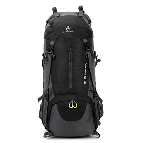 Outdoor Sport Bergsteigen Tasche Camping Rucksack Wasserdicht 60L Black