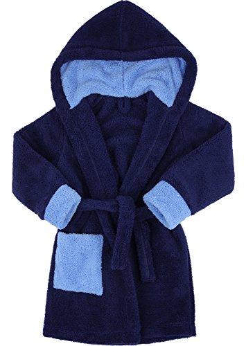 Preisvergleich Produktbild Timone Kinder Bademantel Kids (Navyblau/Blau/Blau (616/652/652), 134-140)