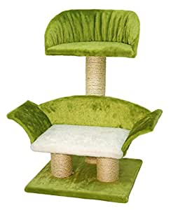 Kerbl Lounge Cat Scratching Post, 42 x 37 x 70 cm, White/ Green