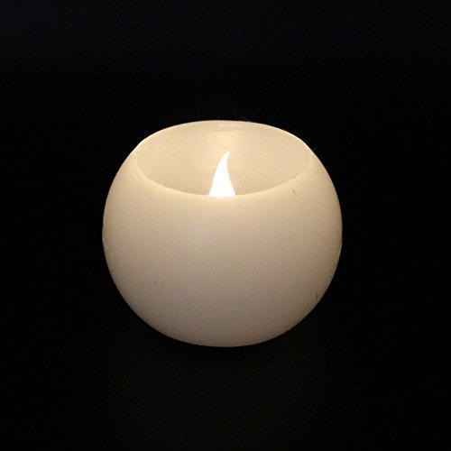 Velas LED sin llama parpadeo, ámbar luz té luz velas velas de cera con LED funciona con pilas cr2032realista ventana velas (Pack de 4)