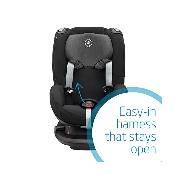 Maxi-Cosi Tobi Toddler Car Seat Group 1, Forward-facing Reclining Car Seat, 9 Months-4 Years, 9-18 kg, Frequency Black Maxi-Cosi Forward facing group 1 car seat suitable for children from 9 to 18 kg (approx. 9 months to 4 years) Install with a 3-point car seat belt, with clear and intuitive seat belt routing High seating position allows toddler to watch outside the window 5