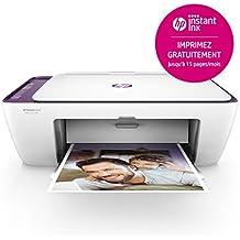 HP Deskjet 2634 Imprimante Multifonction Jet d'encre Couleur (7,5 ppm, 4800 x 1200 PPP, WiFi, Impression Mobile, USB)
