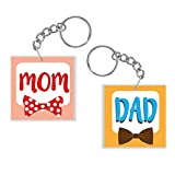 Best Keychain Set Of 2 - YaYa cafe Mothers Fathers Day Gifts, Awesome Mom Review