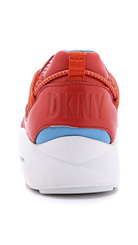 Dkny Mohn Rot Double Pod Läufer Trainer In Pelle Rossa