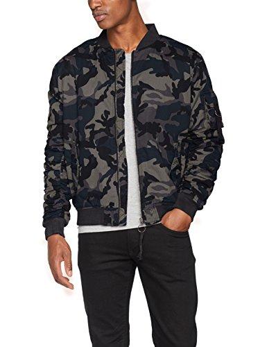 Urban Classics Herren Jacke Vintage Camo Cotton Bomber Jacket Mehrfarbig (Dark Camo 784)