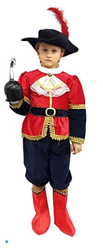 Vestito carnevale bambino travestimento maschera cosplay personaggio film capitano uncino tg 3-4 anni