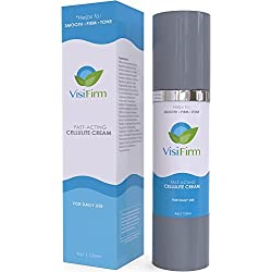 VisiFirm Anti Cellulite Treatment Cream | Smoothes and Firms Skin | Tones Skin by Combating Fat Deposits | Fast Acting Solution for Unwanted Fat | Cellulite Remover Formula For All Skin Types