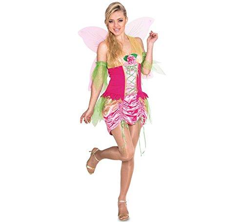 Imagen de disfraz de ninfa rosa para mujer