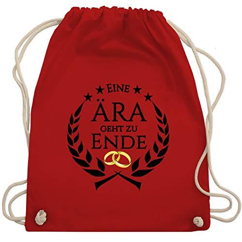 JGA Junggesellenabschied - Eine Ära geht zu Ende - Unisize - Rot - WM110 - Turnbeutel & Gym - Roter Ara Kostüm