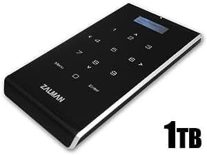 Zalman ZM-VE400 Disque dur externe Lecteur virtuel USB 3.0 Cryptage hardware AES 256 bits Pavé numérique tactile Housse de transport Fonction ODD Plug & Play 5 Gb/s Noir 1 To