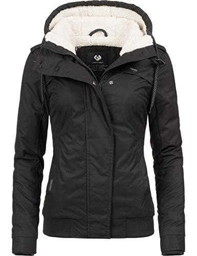 Ragwear Damen Winterjacke Outdoorjacke Ewok Schwarz018 Gr. L