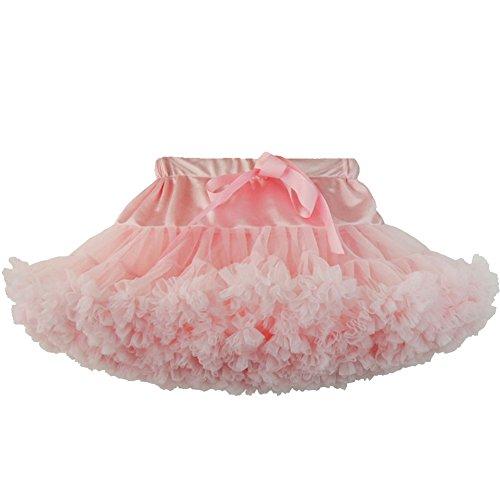FY Mädchen Ballett Tutus Layered Organza Spitze Multilayer Puffy Mini Rock (S(2-4years), Pink) (Tutu Schimmer)