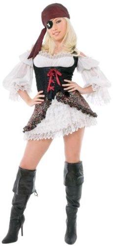 Kostüm Erwachsene Buccaneer Beauty Für - Unbekannt Playboy Buccaneer Beauty Erwachsenen-Kostüm, Größe L