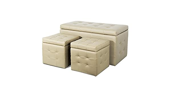 Panca Contenitore Ecopelle : Giby p pouf panca contenitore in ecopelle bianco eur