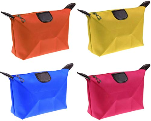 Set 4 Clutches Bags, Bunter Schönheitsfall, Beauty Case Von Der Reise, 4 Farben, DK Italien, Make-Up-Halter und Kosmetik, Tasche, Toilette, Federmäppchen
