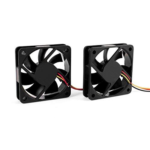 SODIAL(R)60mm 6cm DC 12V 3 Pines Ventilador de enfriamiento Enfriador de CPU...