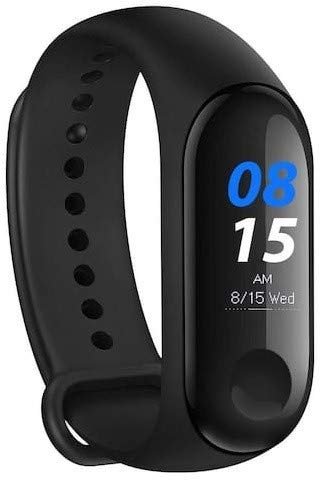 HEMT M3 Intelligence Bluetooth Health Wrist Smart Band Watch Monitor/Smart Bracelet/Health Bracelet/Activity Tracker/Smart Fitness Band Compatible for All Androids and iOS Phone/Tablet (Black)