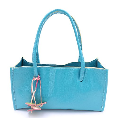 Dairyshop Donne Tote Donna Borsa a tracolla Messaggero di Satchel Borsa della borsa della spesa (rosa) Acido blu