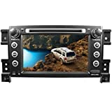 likecar 7 pulgadas HD 1024 * 600 capacitiva 1,6 GHz 16 GB Android 4,4 Quad Core Auto Radio Navegación dispositivos para Suzuki Grand Vitara Stereo Audio Sistema Navegación Monitor DVD GPS MP3 USB Bluetooth Radio FM AM RDS Touch Screen mstar CPU Soporte volante Control ATV 3 G WiFi OBD2 Mirror Link Airplay TPMS DVR Canbus 1 GB DDR3 Alemán Menú