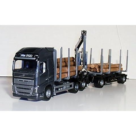 EMEK - EM71353 - VOLVO FH NEW madera remolque de camión, 1:25