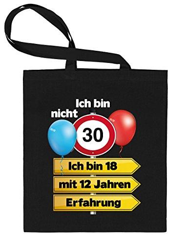 ht 30 Ich Bin 18 Stoff Beutel Trage Tasche Einkaufs Henkel Schulter Geschenke Geburtstag Ideen Sie Jute Baumwoll Umwelt Mama Mutter Tante ()