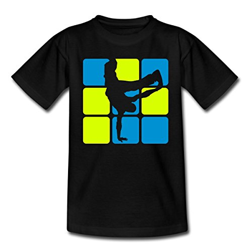 Spreadshirt Breakdance Breakdancer Silhouette Teenager T-Shirt, 134/146 (9-11 Jahre),...