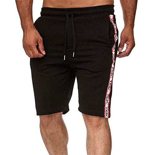 hahashop2 Herren Cargo Short Freizeit-Shorts Liam/Jogginghose/Sweatpants/Kurze oder Lange Hose - Neue Shorts mit Mehreren Taschen -