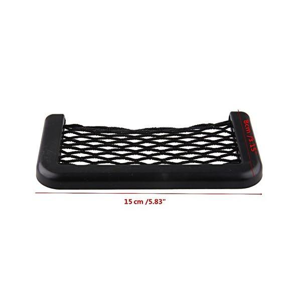 BRLIGE Car Seat Side Back Storage Net Bag Phone Holder Pocket Car Mesh Sundries Storage Box 5