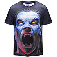 FENICAL Hombres Cool Camiseta 3D Zombie Imprimir Manga Corta Verano Tops Tees Moda Camisa Suelta Talla M