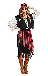 Boland 83844-Adultos Disfraz Pirata Suzy, Negro