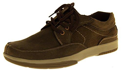 Herren Leder Yachtsman von Seemann Herren Boots Schuhe Casual Deck Sommer Schuhe Braun UK 7.