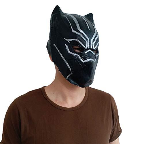 QWEASZER Halloween Cosplay Party Captain America Schwarzer Panther Maske Marvel Erwachsene Lustig The Avengers Headgear Performance,Black-OneSize (Halloween Lustig Deadpool)
