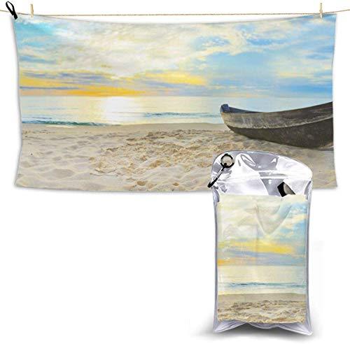 congminbai Strandtücher Strandboot Schnelltrocknendes Handtuch Decke Sandfreie Handtücher Saugfähig für Bath Travel Spa Swim