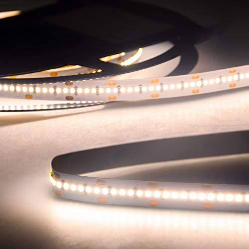LED Strip Streifen Band InnoPro 2.0 - Homogen - 5 Meter Linear 24 Volt CRI 90 IP20 Stripes Leiste Lichtleiste Bänder von INNOVATE® (warmweiß 10 W/m - 120 LED/m 730 lm/m)
