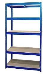 Steckregal Schwerlastregal Lagerregal Kellerregal Regal 180x90x60 cm blau