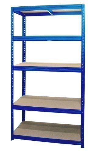 Preisvergleich Produktbild Steckregal Schwerlastregal Lagerregal Kellerregal  Regal 180x90x60 cm blau