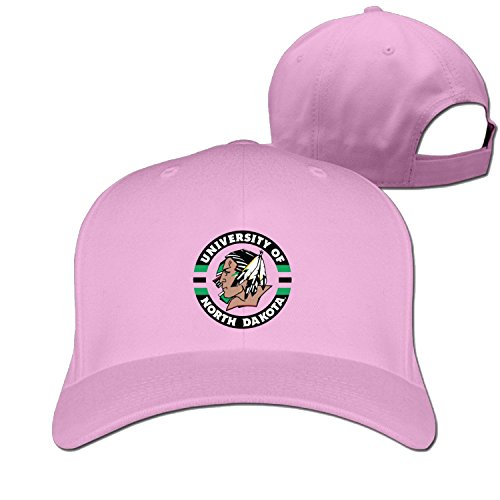 Erwachsene und Universität von North Dakota Fighting Sioux Baseball Hat Sun Visor Cap (6Farben), damen Herren, rose -