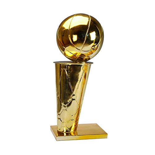 Happy dumplings NBA Basketball Harz Beschichtung Trophäe O'brien Cup Raptors Championship Trophy Wettbewerb Benutzerdefinierte Geschenke 1: 1 Benutzerdefinierte Basketball Fans Geschenke,Gold,11.8in -